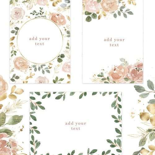 Watercolor Flowers Clipart, Floral Borders Frames, Neutrals with Gold Wedding Invitation Graphics | Use these design illustrations to create floral watercolour wedding invitations, save the date, gift tags, greeting cards, bridal shower invites, Kids Birthday Party invitations, T-shirts coffee mugs tumblers phone cases, School documents & posters, spring summer flyers, logo branding stationery, for your family or business and more. Click to see more>> #watercolor #weddinginvitations