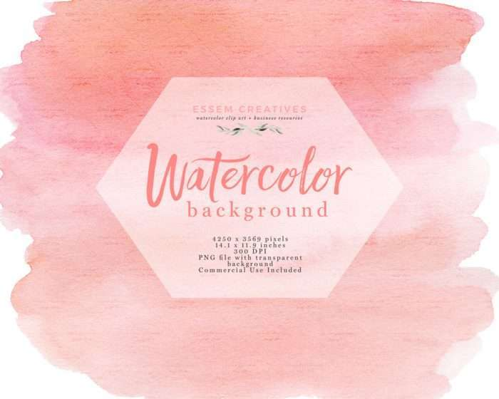 Blush Pink Watercolor Texture Splash Clipart Background with Transparent Background Edges | Watercolor Wedding Invitation Save the Date, Valentines Card Designs, welcome signs, logos & branding, shop announcements & more #watercolor #watercolortexture #invitations #planner