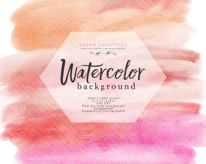 Watercolor Texture Splash Clipart Orange and Pink with Transparent Background Edges | Watercolor Wedding Invitation Save the Date, Valentines Card Designs, welcome signs, logos & branding, shop announcements & more #watercolor #watercolortexture #invitations #planner