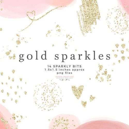 Gold Sparkles Glitter Confetti Overlay Clipart with Transparent Background | These are perfect for creating watercolor labels, bullet journal, save the date cards, wedding invitations, photography marketing material, feminine logo and blog brand, birthday party, baby bridal shower, valentines day, planner stickers, planner dashboard decor, wall art prints. #goldsparkle #glitteroverlay #invitations #planner #digitalplanner #plannerstickers #instagramhighlight