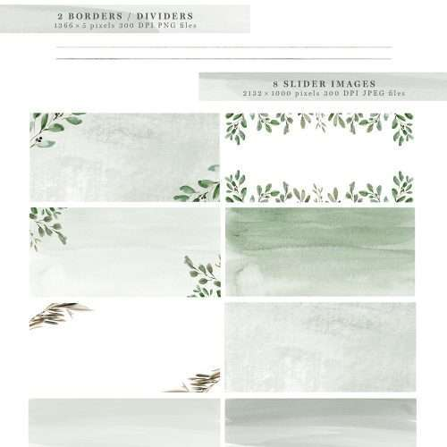 Greenery Watercolor Website Blog Branding Kit, Olive Herbal Minimal Theme, Blogger Squarespace Wordpress Design, Blog Headers Social Media Icons   Modern Foliage Web Blog Branding Kit   Minimalist Watercolor Blog Design & Branding   Neutral Wordpress Theme Elements   Feminine Greenery Olive Eucalyptus Herbal Natural Graphics   Bright and Airy Website Headers   Social Media Icons, Buttons, Banners, Labels & More   Click through to check out this gorgeous kit >>