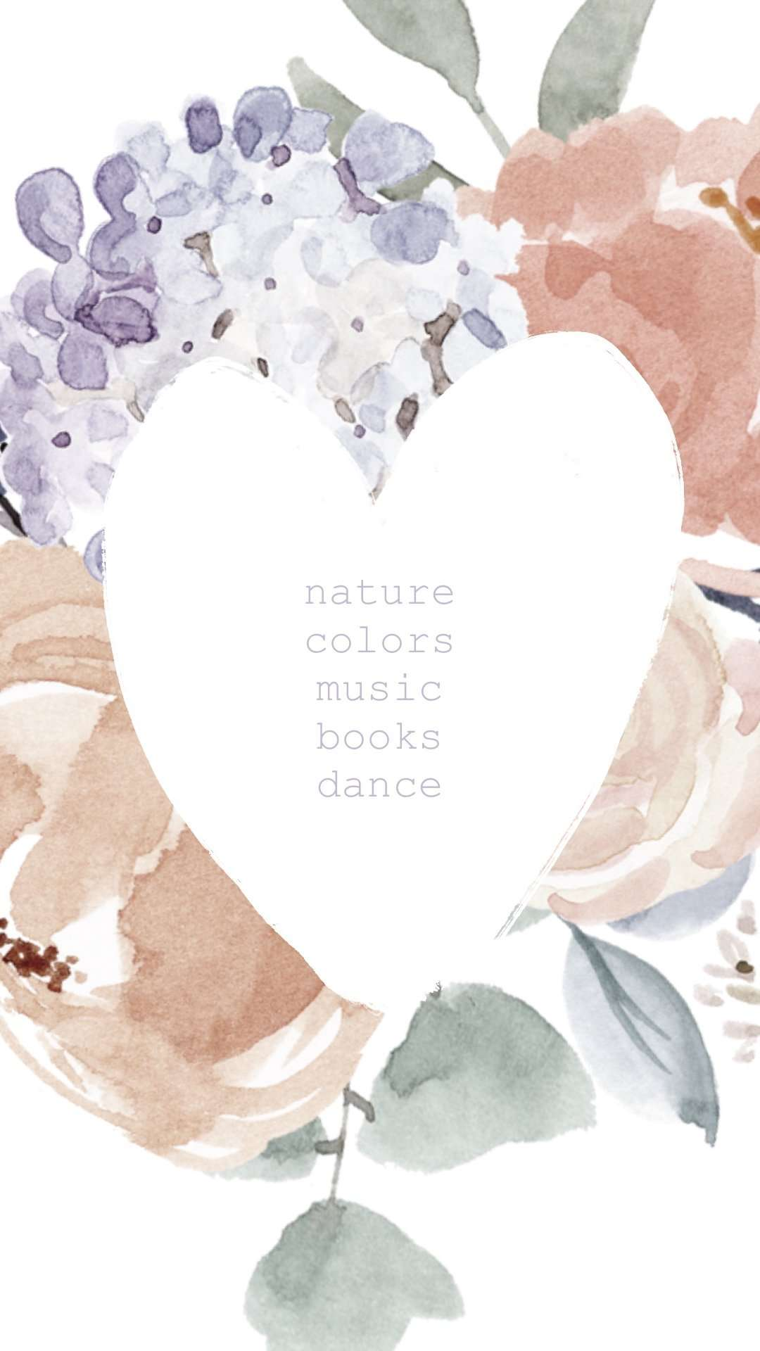Watercolor Motivational Quote, Inspirational Quote from Essem Creatives, iPhone Wallpaper Lockscreen, Nature Colors Music Books Dance