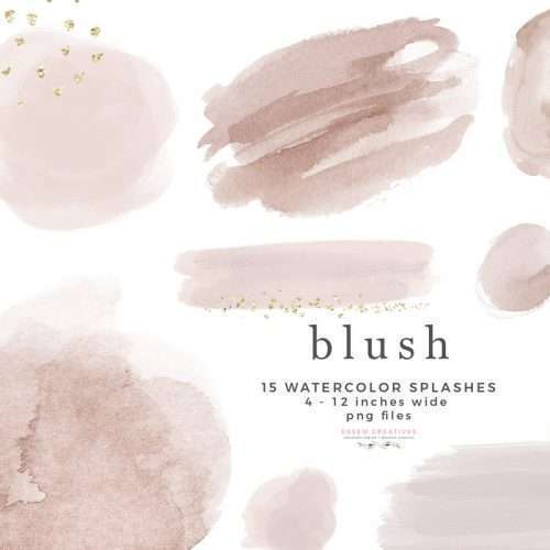 Blush Pink Watercolor Clipart Graphics Background Border, Abstract Watercolor Splash Brush Strokes Invitations Branding Logo Design Scrapbook Planner | Instagram Story Highlight, NEW dusty blue watercolour clipart for wedding invitations, watercolor labels, birthday party invitations, bullet journal, birthday party, baby shower, bridal shower, planner stickers decor, wall art prints, sublimation, digital or mixed or paper scrapbooking, branding, watercolor texture #watercolor #digitalplanner