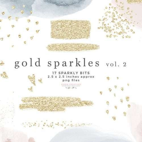 Gold Sparkles Brush Strokes Glitter Confetti Overlay Clipart with Transparent Background | Scrapbooking, Instagram Story Highlight Icons, NEW gold sparkle clipart for watercolor labels, birthday party invitations, get well soon cards, bullet journal, birthday party, baby shower, bridal shower invitations, planner stickers, planner dashboard decor, wall art prints, sublimation, digital or mixed or paper scrapbooking, branding, shop graphics, watercolor texture #goldfoil #digitalplanner