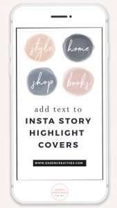 How to Add Text to Instagram Story Highlight Cover Icons | Do you want to personalise your Instagram Story Highlight Cover Icons with text labels? I'll show you how exactly to do that in under 10 mins on your phone in this tutorial! Click to see more>>