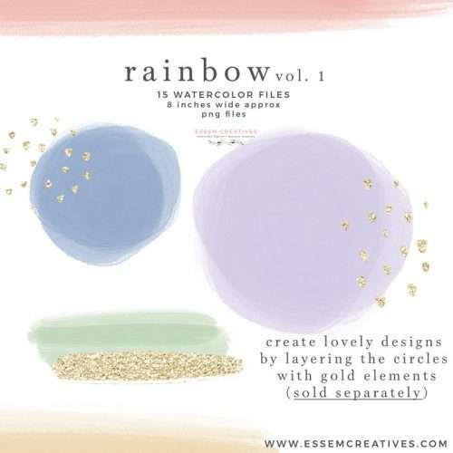 Watercolor Rainbow Clipart Graphics, Colorful Rainbow Background for Kids Craft Projects Invitations Scrapbooking | Scrapbooking, Instagram Story Highlight Icons, NEW rainbows for watercolor labels, birthday party invitations, get well soon cards, bullet journal, birthday party, baby shower, bridal shower invitations, planner stickers, planner dashboard decor, wall art prints, sublimation, digital or mixed or paper scrapbooking, branding, shop graphics, watercolor texture #rainbow