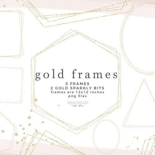 Gold Frames PNG Clipart, Empty Gold Glitter Geometric Frames Commercial Use Graphics Clip Art Designs | Wedding Invitation, Bridal Shower, Baby Shower, Instagram Stickers, Digital Stickers, Planner Stickers, Graphic Design Resources for Invitations, Stationery, Scrapbooking, Sublimation Design Ideas and more | Click to see more>> #goldframes #clipart #geometric