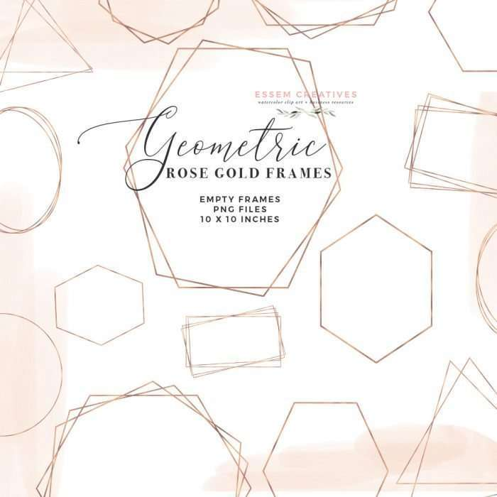 Rose Gold Frames PNG Clipart, Digital Rose Gold Geometric Polygonal Crystal Shapes Graphics | Wedding Invitation, Bridal Shower, Baby Shower, Instagram Stickers, Digital Stickers, Planner Stickers, Graphic Design Resources for Invitations, Stationery, Scrapbooking, Sublimation Design Ideas and more | Click to see more>> #rosegold #clipart #geometric