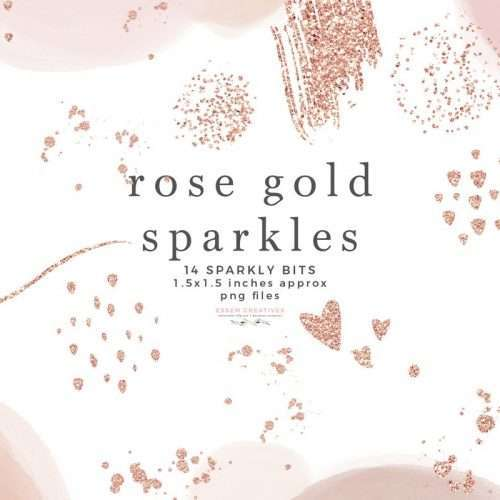 Rose Gold Sparkles Glitter Confetti Overlay Clipart with Transparent Background | Rose Gold Clipart PNG | Instagram Stickers, Digital Stickers, Planner Stickers, Graphic Design Resources for Invitations, Stationery, Scrapbooking, Sublimation Design Ideas and more | Click to see more>> #rosegold #clipart #digitalplanner