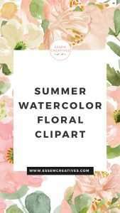 Are you excited about summer, and can't wait to design creative projects for summer? You're at the right place! In this post, I'll round up a few of the best watercolor floral clip art graphics which are perfect for summer designs. Click to see more>>