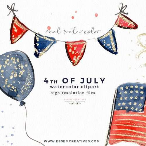 4th of July Clipart, Patriotic Clipart, Fourth July Graphics America Flag Bunting Popsicles Balloons Fireworks | Independence Day Barbeque Invitation Graphics | Scrapbooking Resources Layouts | Planner Stickers Decoration | Digital Stickers | Commercial Use Graphics | Click to see more>> #4thofjuly #fourthofjuly