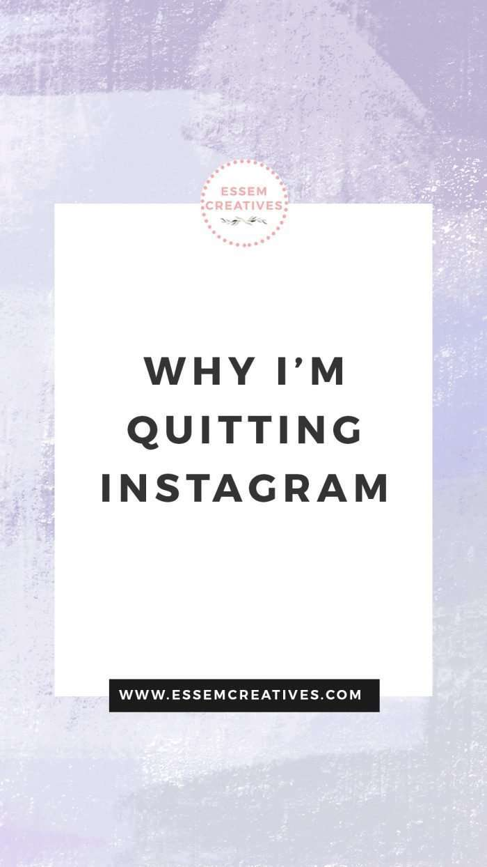 Why I'm Quitting Instagram | Is Instagram necessary for a creative business? Read on to find out what benefits I'm seeking by leaving the social media site>> #socialmediamarketing #quitinstagram