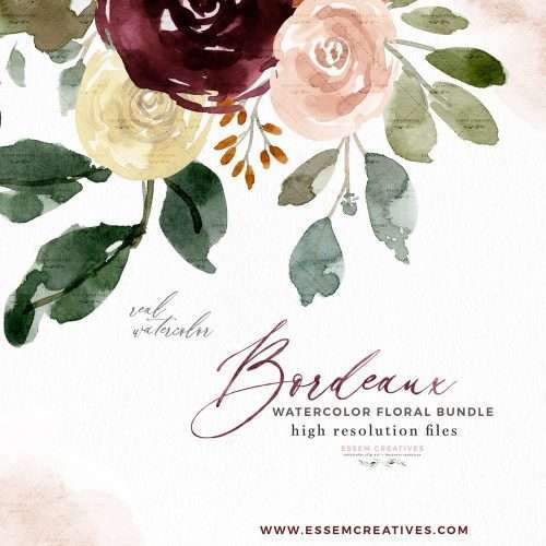 Bordeaux Burgundy Watercolor Flowers Clipart, Fall Floral Graphics Background Card Borders Templates | Burgundy Watercolor Wedding Invitation, Bridal Shower, Baby Shower Card Invite, Birthday Party, Birth Announcement, Instagram Stickers, Digital Stickers, Planner Stickers, Graphic Design Resources for Invitations, Stationery, Scrapbook Paper, Sublimation Design Ideas, Print and Cut Circuit Crafts and more | Click to see more>> #watercolor #burgundy #diyweddinginvitations #diywedding