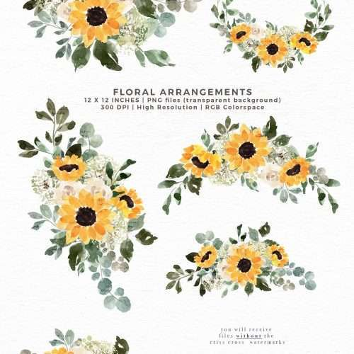 Watercolor Sunflowers Baby's Breath Floral Clipart Painting PNG Background, Rustic Yellow Flowers | Yellow Mustard Rustic Floral Watercolor Wedding Invitation, Bridal Shower, Gender Neutral Baby Shower Card Invite, Birthday Party, Birth Announcement, Instagram Stickers, Digital Stickers, Planner Stickers, Graphic Design Resources, Stationery, Scrapbook Paper, Sublimation Design Ideas, Print and Cut Circuit Craft, Commercial Use| Click to see more>> #watercolor #sunflowers #diywedding