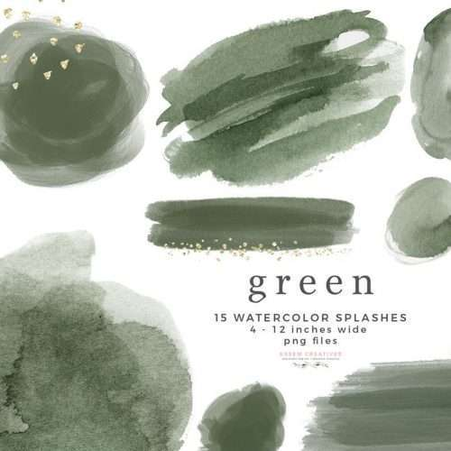 Green Watercolor Clipart Graphics Background Border, Abstract Olive Watercolor Splash Brush Strokes Invitations Branding Logo Scrapbook Planner | Instagram Story Highlight, NEW olive green watercolour clipart for wedding invitations, watercolor labels, birthday party invitations, bullet journal, birthday party, baby shower, bridal shower, planner stickers decor, wall art prints, sublimation, digital or mixed or paper scrapbooking, branding, watercolor texture #watercolor #digitalplanner