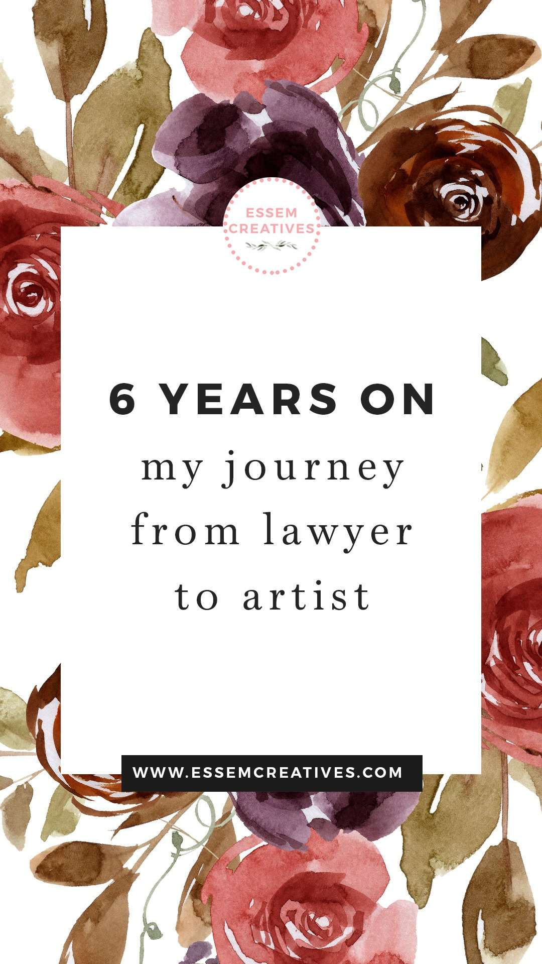 6 years on: My journey from Lawyer to Artist | I switched from a career in law to being a full time creative professional 6 ago ago and now I take stock of what that's been like. If you're curious what a change in your career path could look like, click to read on>>