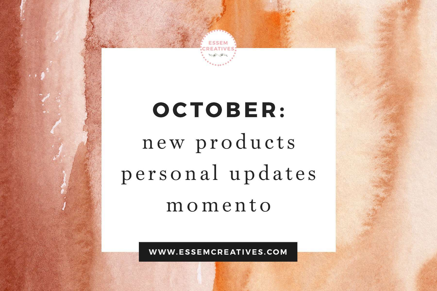 October Round Up - New Products, Some Personal Updates, Momento Embellishments | Read on to get a glimpse behind the scenes in to my life as a full time working artist>>