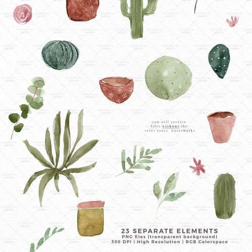 Watercolor Cactus Cacti Clipart, Potted Cactuses House Plants Indoor Plants Succulent Graphics Download PNG Commercial Use | Spring Summer Watercolor Clip Art | Perfect for rustic, vintage watercolor wedding invitations, digital scrapbooking, bridal shower invites party, gender neutral baby shower invites, scrapbooking, digital papers, Save the Date, birthday party, menu, table numbers, welcome sign, logo branding, gift tags, planner stickers
