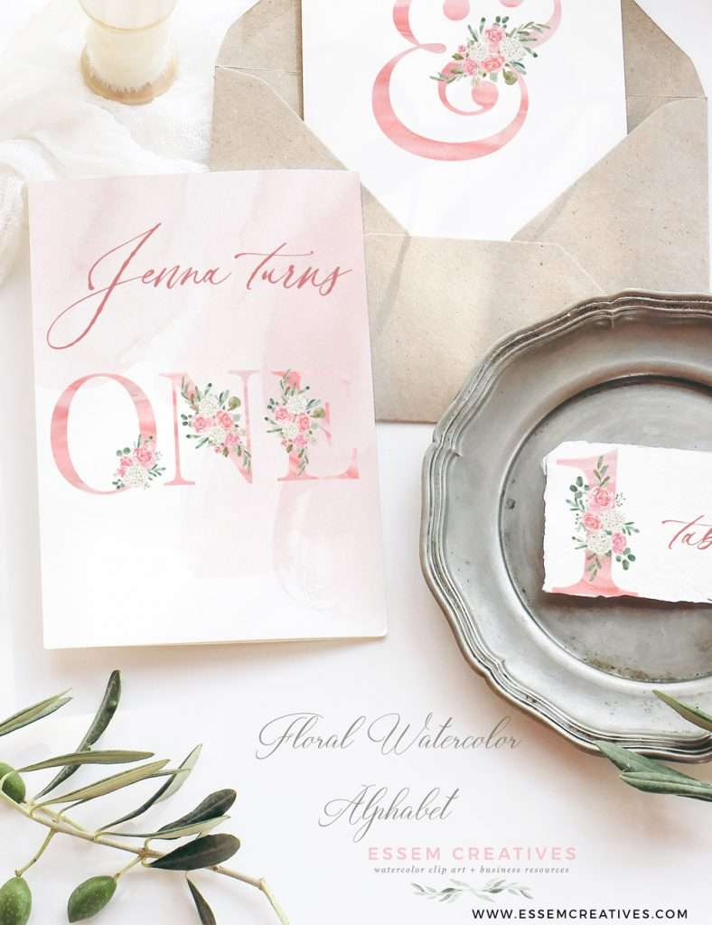 Blush Watercolor Floral Alphabet Digits Numbers Font Letters Clipart 2021 2022 2023 | Perfect for rustic, vintage watercolor wedding invitations, sublimation design png, print and cut file for cricut, bridal shower party, girl baby shower invites, Save the Date cards, birthday party, menu, table numbers, girl nursery wall art printable, digital stickers, welcome sign, logo branding packaging, gift tags, greeting cards, planner stickers for commercial use. Click to see more>>
