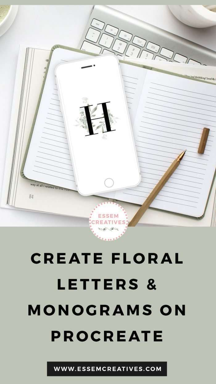 Create Floral Alphabet Monogram Letters on Procreate | Insta Story Highlight Covers Tutorial | Make Insta story highlight covers, logo & branding, website headers, and print designs like wedding invitations, table numbers, welcome signs, etc.| Instagram Story Highlight, watercolour clipart for wedding invitations, watercolor labels, birthday party invitations, bullet journal, baby shower, bridal shower, planner stickers decor, wall art prints, sublimation, scrapbooking