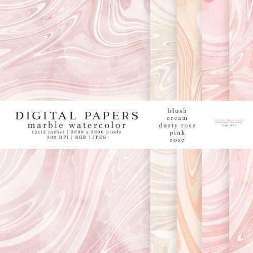 Watercolor Marble Digital Paper Pack for Planners, Instagram Story Highlight Covers, Blog Headers | Make Insta story highlight covers, logo & branding, website headers, and print designs like wedding invitations, table numbers, welcome signs, etc.| Instagram Story Highlight, watercolour clipart for wedding invitations, watercolor labels, birthday party invitations, bullet journal, baby shower, bridal shower, planner stickers decor, wall art prints, sublimation, scrapbooking
