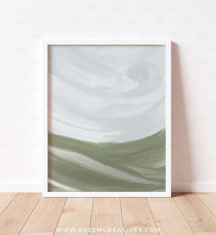 Put up these abstract landscape prints in soft, soothing and calming colors to create a well designed space that will impress your friends and family. It will look great in a neutral, modern home, in a farmhouse cottage, in a decor that is styled in the french country style, or anything needing a splash of color without overwhelming the senses.