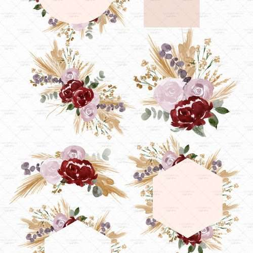 Boho Floral Neutral Watercolor Clipart Graphics Illustrations Card Borders for DIY wedding invitations, prints, bridal shower | Fall Floral watercolour wedding invitations, save the date card, gender reveal party invites, gender neutral baby shower invitations, posters flyers, scrapbooking resources, surface pattern illustration, digital planner stickers, flower logo & brand design, nursery decor, photography backdrop, card borders | Click to see more>>