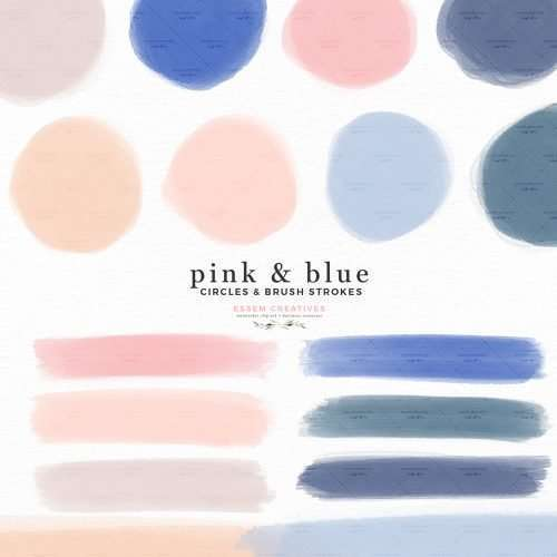 Pink and Blue Watercolor Circles and Brush Strokes Branding Clipart Boho Insta Story Highlight Covers | Insta Story Highlight Covers | Logo & branding, website headers, and print designs like wedding invitations, table numbers, welcome signs, etc.| Instagram Story Highlight, watercolour clipart for wedding invitations, watercolor labels, birthday party invitations, bullet journal, baby shower, bridal shower, planner stickers decor, wall art prints, sublimation, scrapbooking