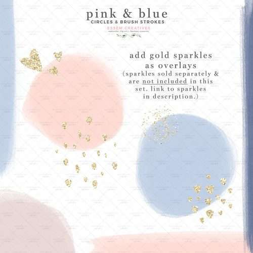 Pink and Blue Watercolor Circles and Brush Strokes Branding Clipart Boho Insta Story Highlight Covers   Insta Story Highlight Covers   Logo & branding, website headers, and print designs like wedding invitations, table numbers, welcome signs, etc.  Instagram Story Highlight, watercolour clipart for wedding invitations, watercolor labels, birthday party invitations, bullet journal, baby shower, bridal shower, planner stickers decor, wall art prints, sublimation, scrapbooking